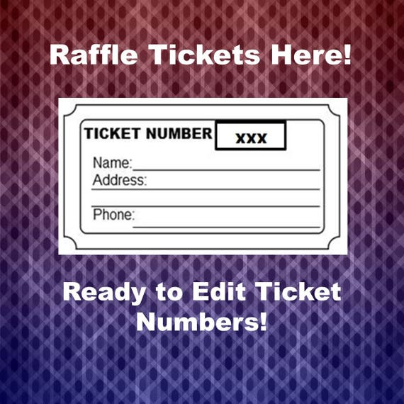 Raffle Ticket Template Blank Raffle Tickets Per Page Party - Templates for raffle tickets 8 per page