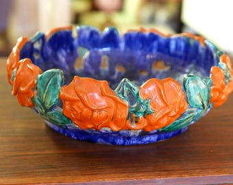 Gorgeous Austrian Oversized Vented ceramic Bowl