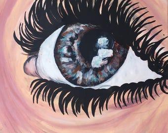 Eye Acrylic Painting