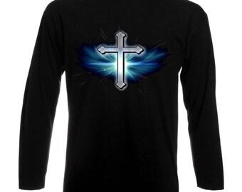 Jesus Christ Cross Christianity Jesus Christus Kreuz Christen Long Sleeve T-Shirt