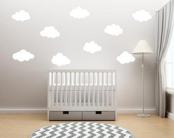Clouds Vinyl Decal/Sticker (set of 9) - decor for your home, wall, window, etc. - Nursery Decor - Clouds - Sky