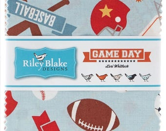 Game Day Fabric 5 Inch Charm Pack