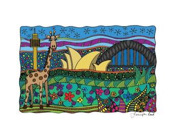 Taronga Sydney Art Print - Jennifer Reid