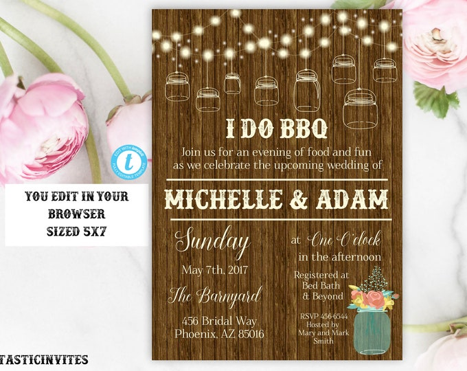 I Do BBQ Couples Shower Invitation, Bbq Couples shower, I DO BBQ Template, I Do BBq Invitation, I Do Bbq, Bbq invitations, I Do Bbq Couples,