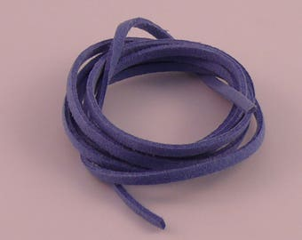 Blue 3mm suede cord x 1.5 mm