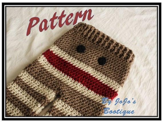 PATTERN - Crochet Monkey Baby Pants PATTERN - Baby Monkey Pants ...