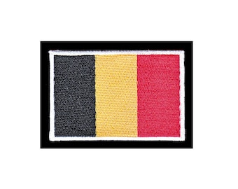 AB50 Belgium flag biker travel Country patches Patch patches size 7 x 4.8 cm