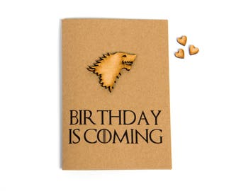 Birthday Is Coming Greeting Card - Birthday - Game Of Thrones - TV Show - Stark
