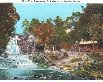 Vintage Postcard...The Cascade, Old Orchard Beach, Maine ....Unused...no. 2825