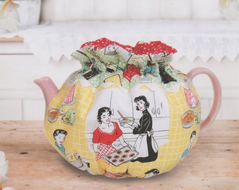 Afternoon Tea Party, Tea Cozy Pattern to Make,  DIY Sewing, Pink Sand Beach Designs