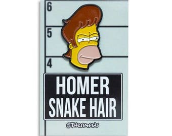 Homer Snake Hair - The Simpsons Pin
