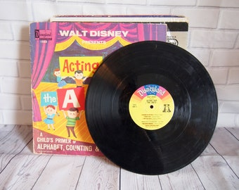 Disneyland Acting Out the ABC's Vinyl Record