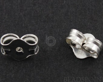 Sterling Silver Earrings Back, 1 Piece, Sold INDIVIDUALLY, Just buy as many you need, (SS/725)