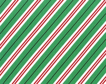 Candy Cane Stripe - From Michael Miller - Evergreen - 1 Yard - 9.95 Dollars