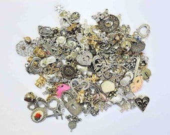 Charms and Knick Knacks For Jewelry Making 14 Ounces
