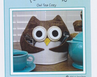 Tea for Who, Owl Tea Cozy, DIY Sewing, Susie C Shore Designs