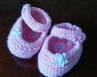 Sweet Mary Jane Baby Booties