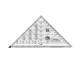 Creative Grids Half-Square 4-in-1 Triangle Quilt Ruler (CGRBH1)