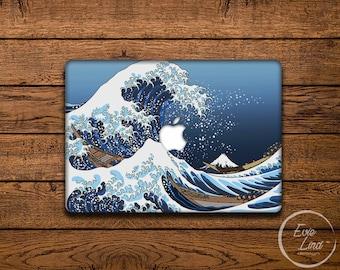 Kanagawa wave macbook decal / Stickers Macbook pro case / Japanese art / macbook sticker / macbook Pro 13 case / Macbook Air case  / EL017