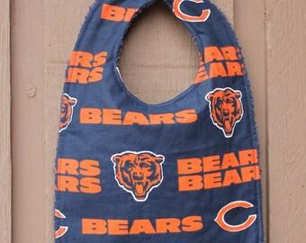 Chicago Bears Baby Bib, feeding, teething, baby shower gift