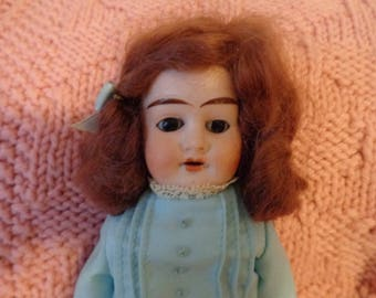 ANTIQUE Bisque Shoulder Head Doll, ALMA, Armand Marseille, 11""