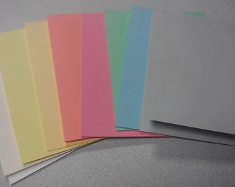 36 Blank A2 or A7 Note Cards Sampler Pack, Blank Cards for Card Making, Paper Crafting Supplies 4.25 by 5.5 or 5.7 inch cards when folded