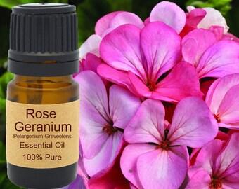 Rose Geranium Essential Oil 5 ml, 10 ml or 15 ml