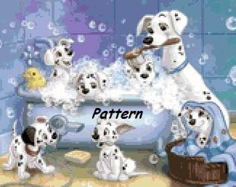 101 dalmatians #7. Cross Stitch Pattern. PDF Files.