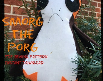 Smorg the Porg Sewing Pattern & Tutorial, Easy Instructions to Sew a Porg, PDF Instant Download for a Star Wars Smorg Sewing Pattern