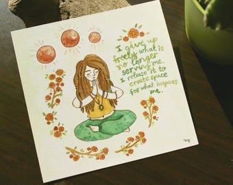 3 Moon Meditation - art print