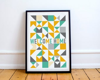 Welcome Home Digital Poster | Digital Download |  Graphic Poster