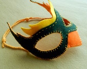 Felt Bird Mask(s) Patterns - pdf - for Halloween, costume parties, dress up and role playing - 2016 New Year Party- plus Pagan Mask PDF