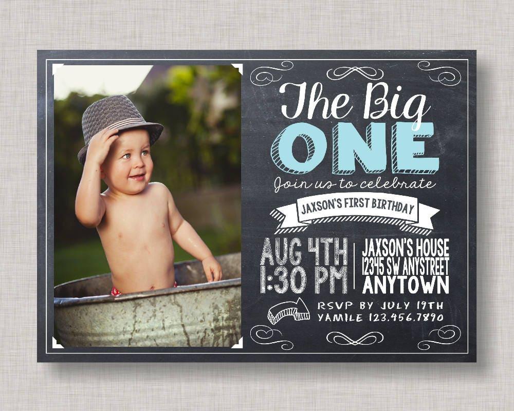 The Big One InvitationThe Big OneBoy First Birthday