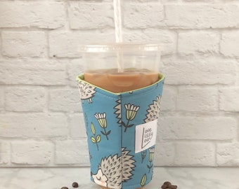 Iced Coffee Cozy, Coffee Cozy, Insulated Cup Sleeve, Coffee Cozies, Cup Sleeve, Cozies, Hedgehog Cozy, Coffee Gifts