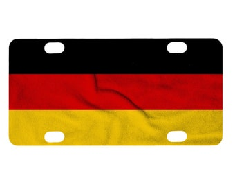 Bicycle License Plate, Germany Flag Image Design, Mini License Plate, Bike Tag, German Flag
