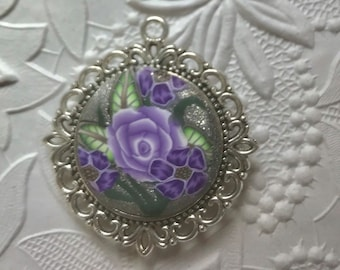 Pendant, Reversible, Polymer Clay