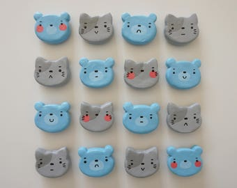 Bear and Cat Magnets