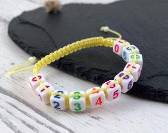 Phone Number Bracelet, Kids Number Bracelet, Kids Safety Band, Emergency Contact Bracelet, Lost Child Bracelet,  Personalised Bracelet