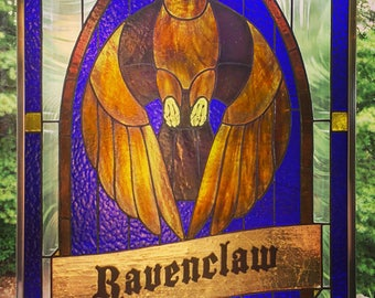 Ravenclaw  - Original Stained Glass Panel