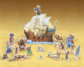 Pirates High Seas play set printable