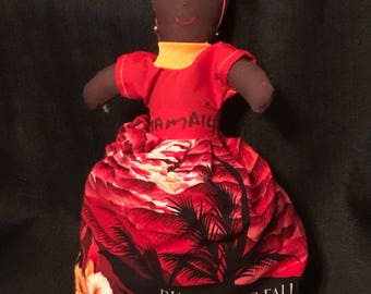 Vintage Topsy Turvy Doll Hand Made Jamaica Folk Art Souvenir from Jamaica SALE PRICE was 17.00 now 14.99
