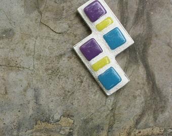 Mosaic Pendant, Stained Glass, Abstract Mosaic Necklace, Ceramic tile mosaic, Gifts under 40.00, Gifts for Her