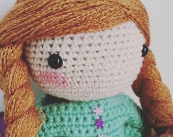 Spring Field Girl - crochet doll