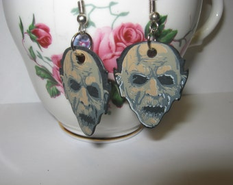Zombies/ Skull/ Guitar Pic/ Gothic/ Earrings