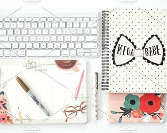 Styled Stock Photo | Blogger Desk Essentials | Blog stock photo, stock image, stock photography, blog photography