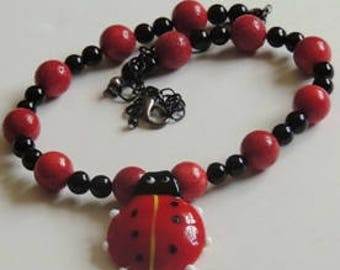 Cutie  Necklace for lovers of the Lady Bug