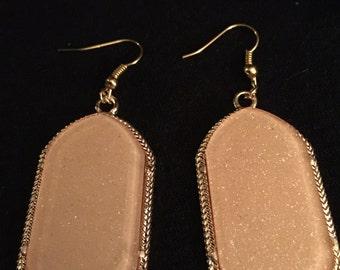 Rose gold color earrings