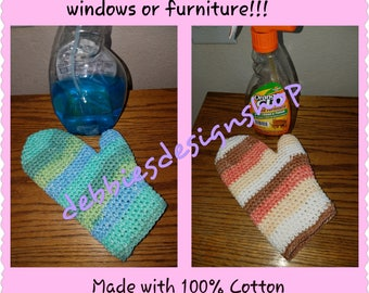 Cotton Cleanig Mitt, Great for Dusting and Windows - Machine Wash & Dry to Use Over and Over