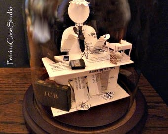 Doctor at Desk Man or Woman- Business Card Sculpture -1513 Any Theme, Hobby, Sport or Profession