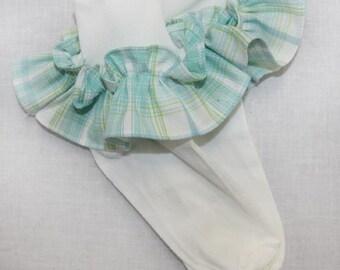 Baby Socks - Baby Lace Socks - Pageant Socks - Ruffled Socks - Girls Socks - Kids Baby Sock - Little Girls Socks - Pageant Socks 292174